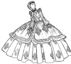 advance Old Victorian Wedding Dresses anna s party dress king i 1860 s summer 1968